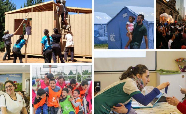 Collage de personas ayudando a Organizaciones CIviles