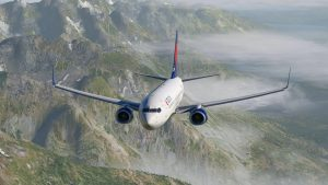 Avión hiperrealista marca bosch