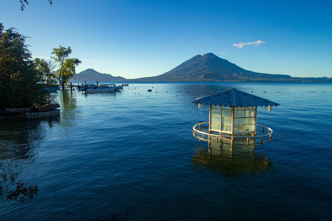 vista de Panajachel en Guatemala