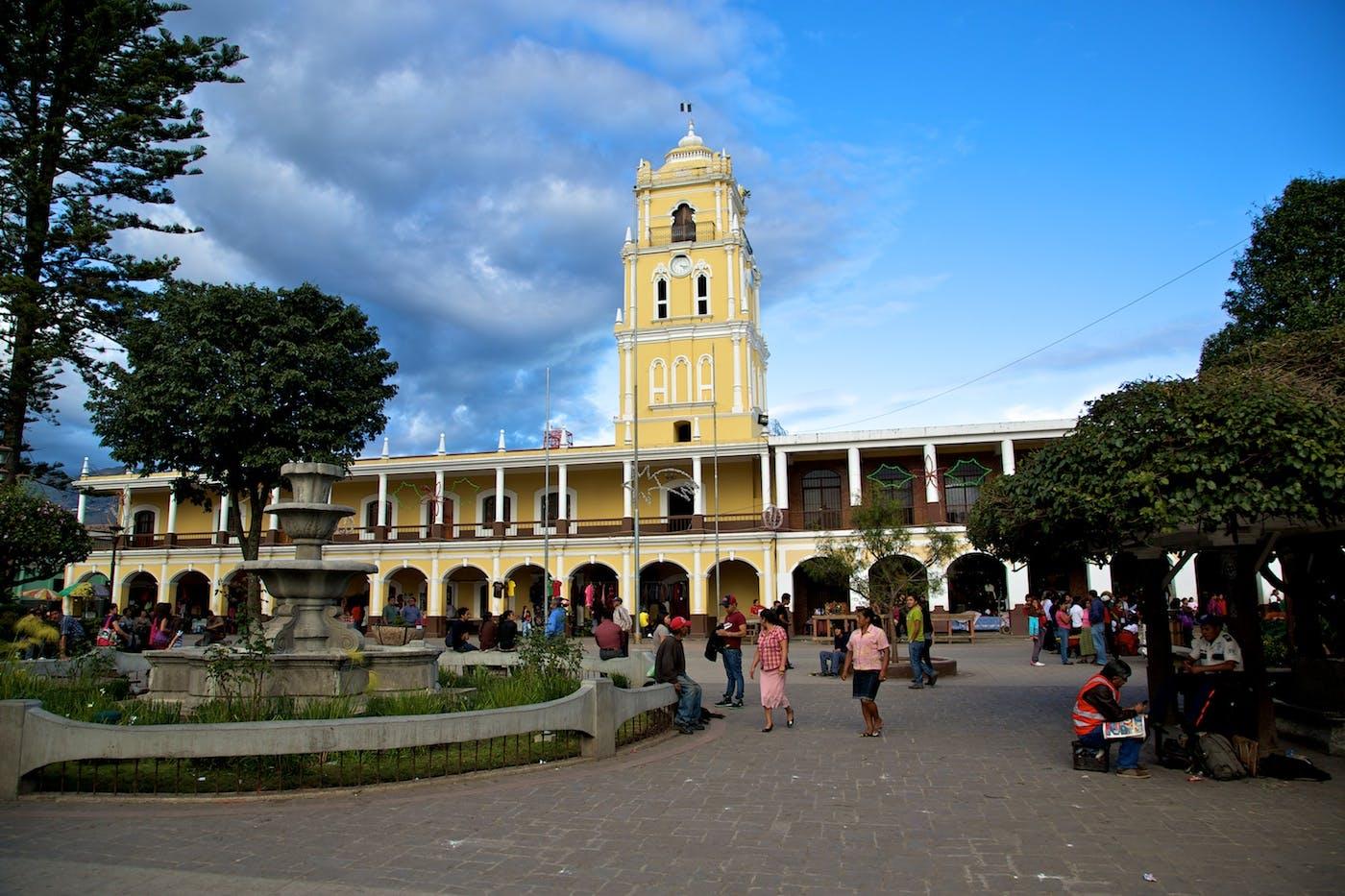 plaza de Huehuetenango Guatemala